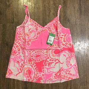 NWT Lilly Pulitzer Pixie Top in Trunk in Love